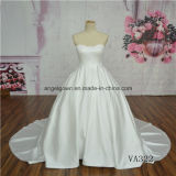 Satin High Quality Strapless Wedding Dress