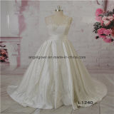 Satin A Line Elegant Design Wedding Bridal Dress