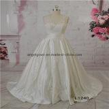 Satin A Line Elegant Design Wedding Bridal Dress