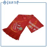 Free Size Custom Logo Print Knitted Football Fans Scarf