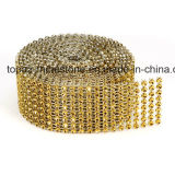 Crystal Stick Rhinestone Hot Fix Rhinestone Back Sticker Mesh Rhinestone on Accessories DIY (TP-081gold)