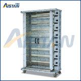 Kj8 Gas Vertical Stainless Steel Chicken Rotisserie Roaster Machine of Catering Kitchen Equipment