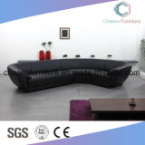 L Shape Big Size Dark Grey Elegant Office Sofa in Meeting Room