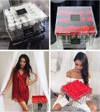 36PCS Wedding Rose Clear Acrylic Rose Box/ Flower Packaging Box
