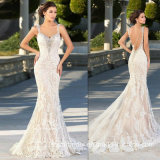 Mermaid Evening Dress Lace Tulle Bridal Wedding Dress E13917