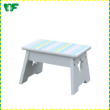 Hot Selling European Style White Fashion Wooden Kids Stool