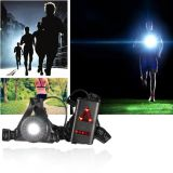Rechargeable 3 Mode Night Sports Warning Chest Running Light Flashlight