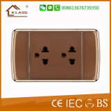 110V-250V Dual 3pole Socket Electrical Wall Socket Good Prices