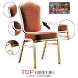 USA 5-Star Hotel Banquet Aluminium Steel Frame Flexible Rocking Chair