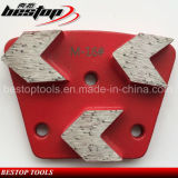 Hot Sale Diamond Grinding Shoe with 3 Segments