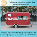 Red Jiejing Made Caravan Mobile Trailer for Travelling