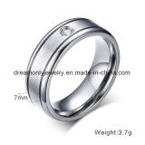 CNC Machine Jewelry Matte Finish Titanium Ring