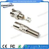 Rg59/RG6 Male Solder BNC Connector with Long Metal Boot (CT5046-2)