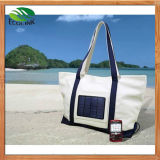 Lastest Design Women ′s Solar Charger Canvas Handbag