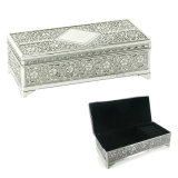 Silver Plated Trinket Box Antique Finish for Girl