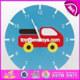 New Design Cartoon Wooden Kids Wall Clock for Sale W09d020