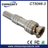CCTV Male Solderless BNC Connector with Long Metal Boot (CT5046-3)