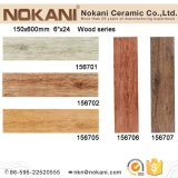 3D Inkjet Ceramic Wood Look Tiles for Wall and Floor (150X600)