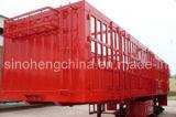 2 Axles Cargo Storage Grid Semi Trailer for Truck