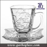 High Quality Glass Tea Cup & Saucer Set (TZ-GB09D1305LB)