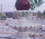 Natural Granite Marble Stone Water Fountain with Ball