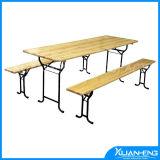 Outdoor Furniture Wooden Folding Beer Table Set