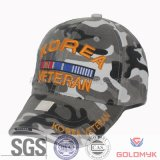 Camo Sports Cap with Embroidery (GKA01-F00048)