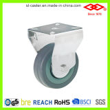 75mm Fixed Plate Grey Rubber Caster Wheel (D110-32C075X21)