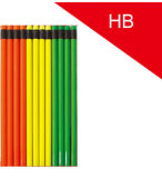 7′′ Neon Color Hb Pencil with Wood-Free Plastic Material