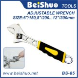 Anti-Slip Handle Metal Adjustable Wrench Hand Tool Spanner
