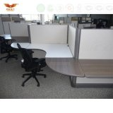Elegant T-Shape Glass Panel Top Modern Office Cubicle Workstation