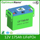 Rechargeable LiFePO4 12V 175ah Battery Pack Fwith Suitable BMS and Case