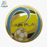 Gold Supplier Die Casting Paint Gold Custom Soccer Coin for Sport