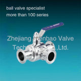 Stainless Steel (Three Way) 3 Way Sanitary Ball Valve