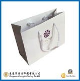 Customized White Color Paper Gift Bag (GJ-Bag021)