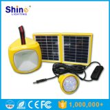 Solar Panel Camping Lantern with Bulbs and Cell Phone Charger
