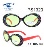 Fashionable Large Frame Colorful Kid Plastic Sunglasses (PS1320)