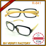 R-841 Large Frame Readglasses with Bamboo Arms Wood Women