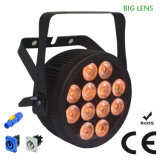 Ce Approved Compact RGBWA UV Stage Light LED PAR with Powercon Slim Aluminum Housing (12HX)
