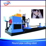 Higher-Quality Steel Round Pipe CNC Oxy Plasma Hole Cutting Drilling Machine
