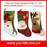 Christmas Decoration (ZY16Y009-1-2-3 50CM) Fabric Snowman Stocking Christmas Decoration Hanging Santa