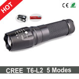 Hot Sale CREE T6-L2 LED Flashlight+Charger+1X18650 Battery