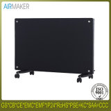 Colorful Glass Panel Heater with Wheel Over Heat Protection