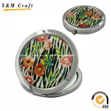 High Quality Iron Material Round Compact Mirrors Ym1163