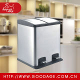 Rectangle Shape Dustbin Trash Can Rubbish Bin Pedal Bin