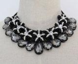 Women Fashion Costume Jewelry Beaded Crystal Chunky Choker Necklace (JE0149)
