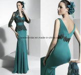 Satin Mother′s Gowns with Lace Jacket Mermaid Fashion Mother of Bride Dress Z1002