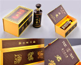 Costomized Cardboard Wine Packaging Paper Box with Single Bottle