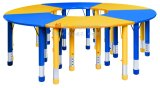 Gt-54-Wooden and Metal Frame Kids Big Round Table and Chairs