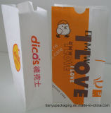 White Color Food Grade Paper Bags with Customized Logo
